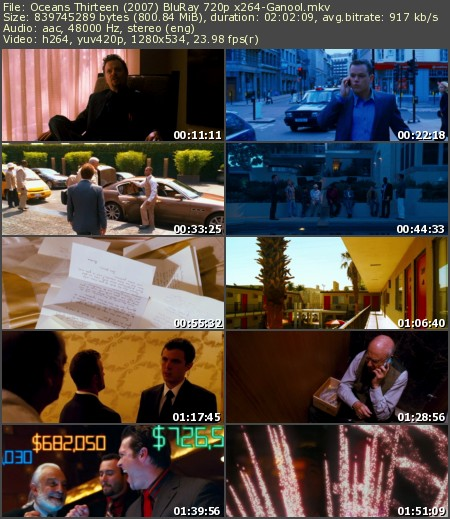 Ocean's Thirteen (2007) BluRay 720p x264-Ganool
