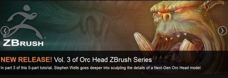 3DMotive - Orc Head Zbrush Series Volume 3