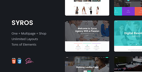 ThemeForest - Syros v1.0 - Multi-purpose Modern HTML5 Template - 16338955