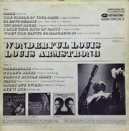 Wonderful LOUIS-Louis Armstrong, vinyl-rip