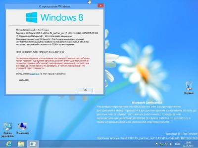 Microsoft Windows 8.1 Build 9385 x86 (RUS)