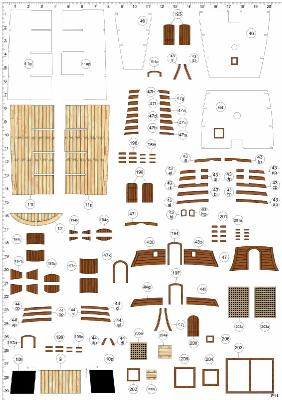 Бумажные модели парусников Shipyard - Векторная отрисовка 600dpi - 10 Номеров
