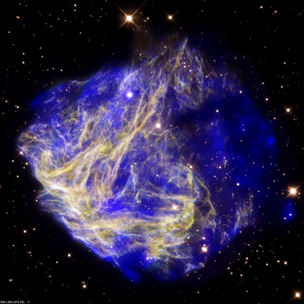 Blue supernova explosion hd