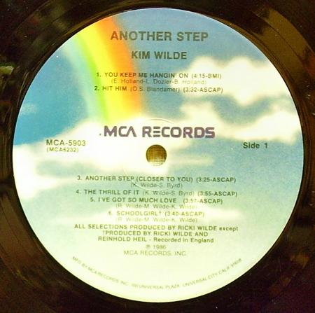 Kim Wilde - Another step (1986), vinyl-rip